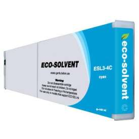 Compatible inkjet cartridge for Roland ESL3-4C - eco-sol max cyan