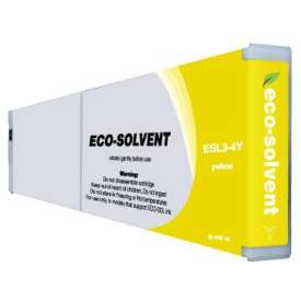 Compatible inkjet cartridge for Roland ESL3-4Y - eco-sol max yellow